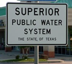 Superior Public Water System sign
