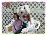 Children sitting with the Easter Bunny