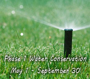 Phase 1 Water Conservation in Effect