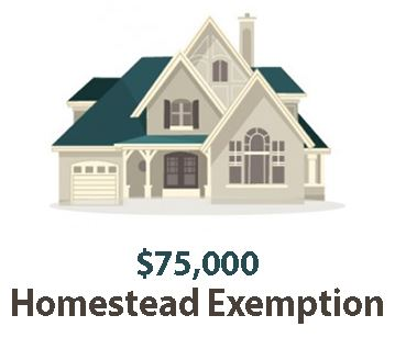 Homestead Exemption Increases to $75000