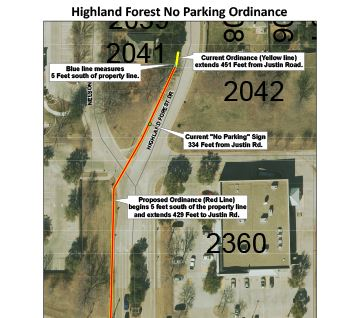 Highland Forest No Parking Ordinance