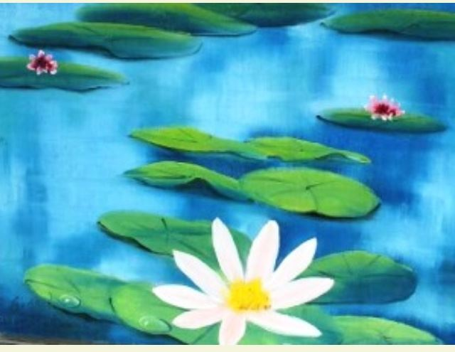 waterlillys Youth Oil Painting