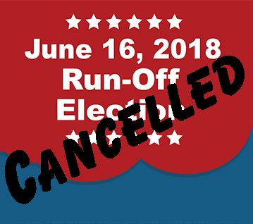 Runoff Election Cancelled