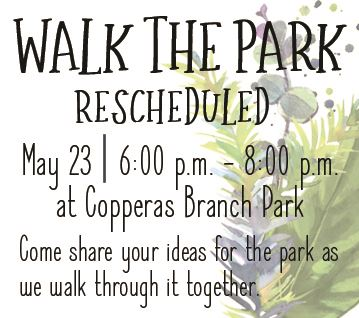 Walk the Park Rescheduled