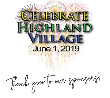Celebrate Highland Village 2019 - thank you to sponsors
