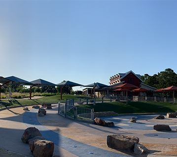 Shade Structures at the splash pad