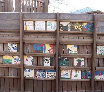 Picture of personalized tiles at Kids Kastle