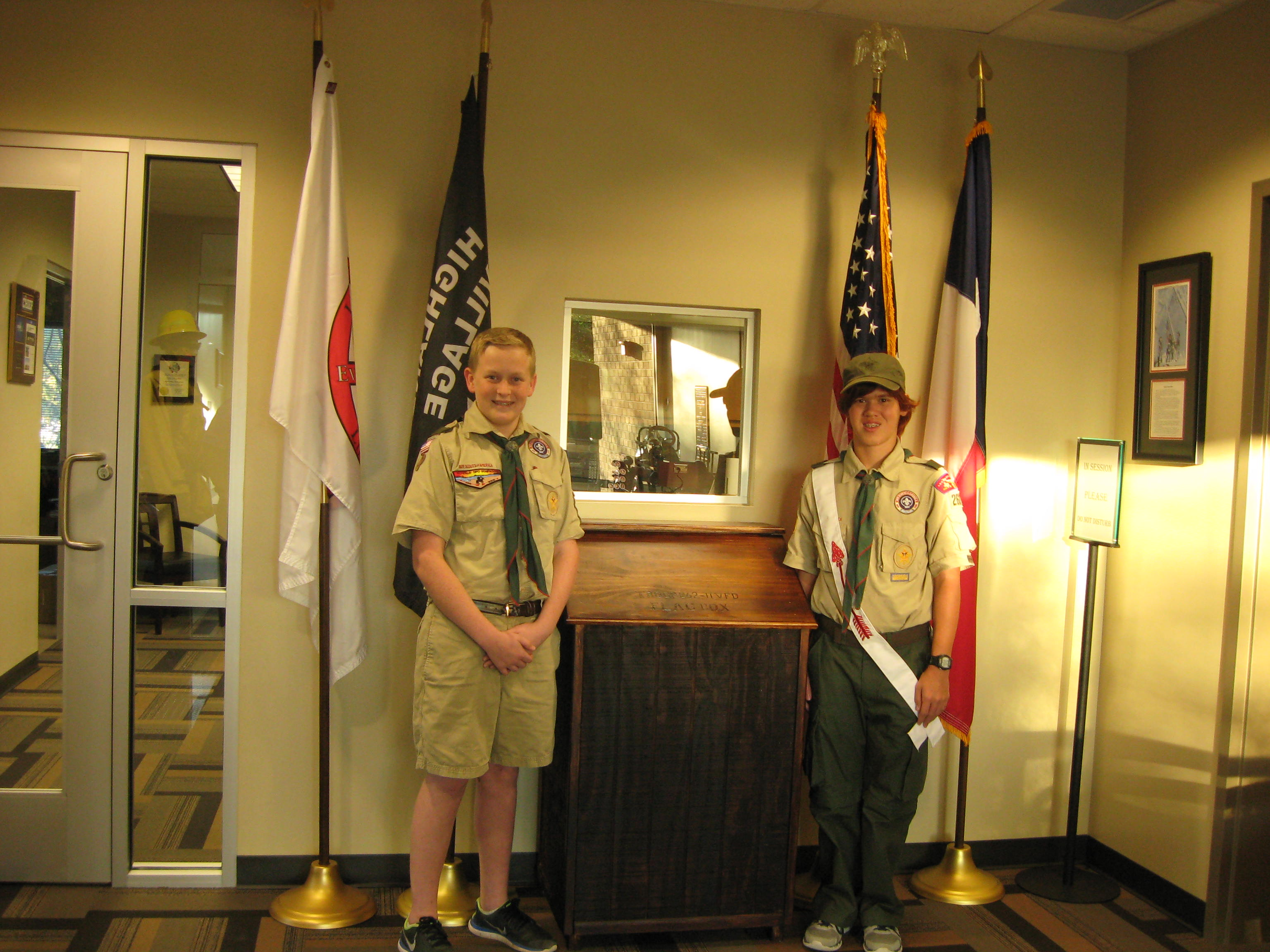 Boy Scout Flag Box