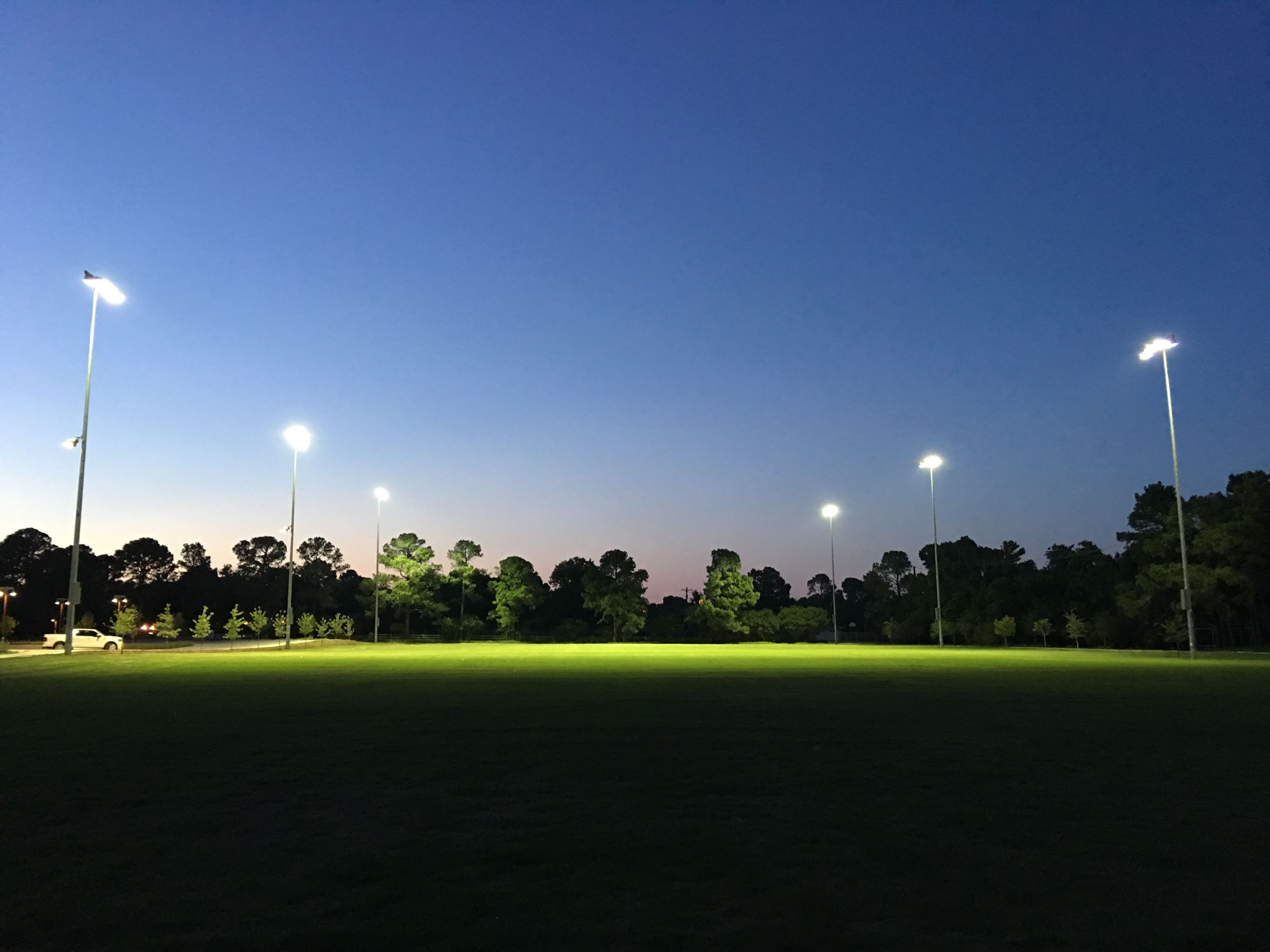 Soccer Fields at Night
