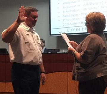 Deputy Chief Nokes Swearing In